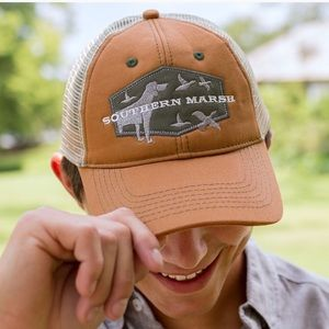 New Southern Marsh Hunting Dog Trucker Hat Cap